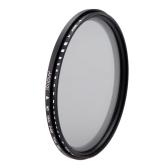 Andoer 77mm ND Fader densidad neutra ajustable ND2 a ND400 Variable filtro para Canon Nikon DSLR cámara