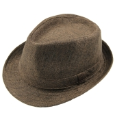 Fashion hommes femmes Casual Fedora Hat pincé Crown Beach Sun Cap Chapeau Panama unisexe