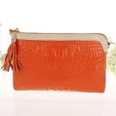 Luxe femme pochette Crocodile modèle cuir véritable épaule chaîne Messenger Bag Purse