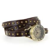 Rivets Vintage Bracelet poignet Watch les femmes de