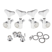 4 Chrome Sealed Tuning Pegs Tuners Machine Heads for Bass Guitar 2L+2R