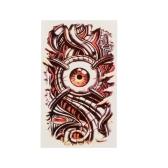 Pegatina de Tatuaje Impermeable del Patrón Ojo Rojo Arte Tatuajes Corporal Papel Temporal