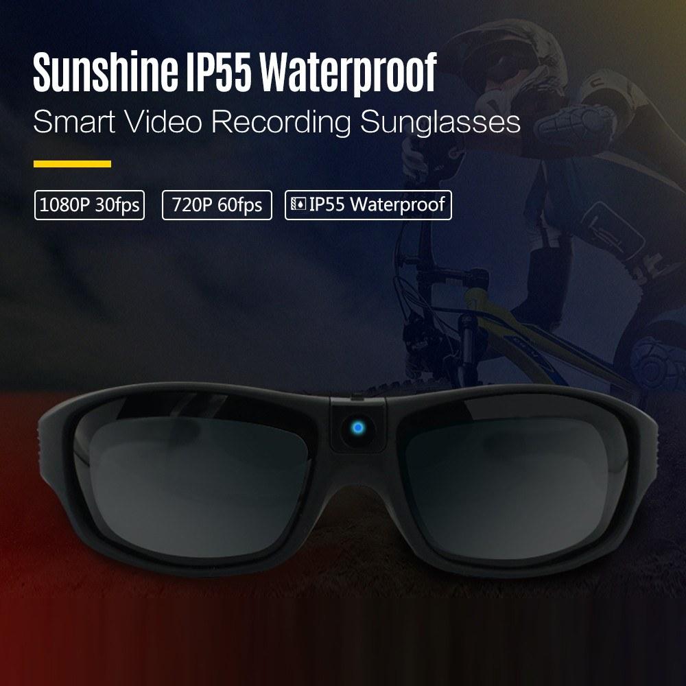 Smart Video Recording Sunglasses 1080P FHD Outdoor Sports Action Camera  Sales Online black - ERRME