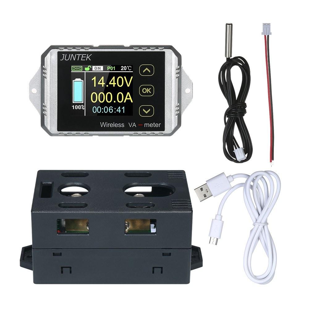 Juntek Dc 001 100v 100a Multifunctional Wireless Digital Bi Combo Amperemeter Voltmeter Frame 0 10a Directional Voltage Current Power Meter Ammeter Capacity Coulomb Counter Sales