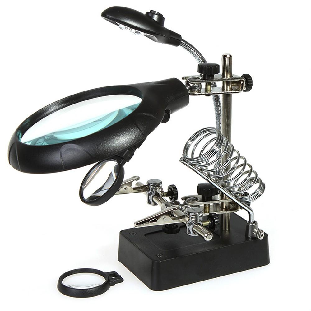 Лампы-лупы настольные купить настольную лампу с лупой по Настольная лупа для пайки своими руками