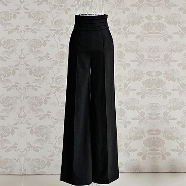Сшить брюки с широким поясом 13