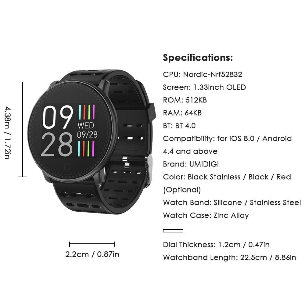 UMIDIGI Uwatch Smart Watch - US$29 99 Sales Online black - ERRME