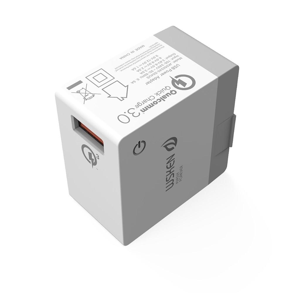 wsken 5 v 3a smart usb chargeur us plug 1 port voyage mur chargeur de charge adaptateur d. Black Bedroom Furniture Sets. Home Design Ideas