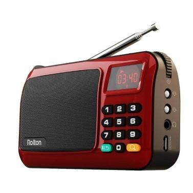 Alto-falante de computador de rádio portátil Rolton W405 FM