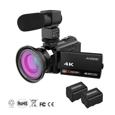 Andoer 4K 1080P 48MP WiFi Digital Video Camera Camcorder Recorder