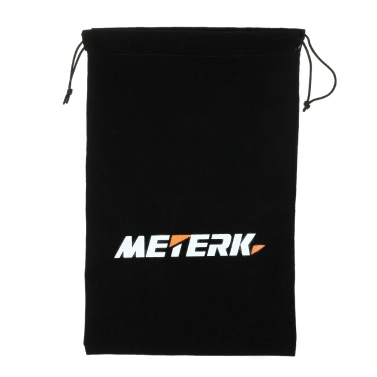 Meterk 30*19cm Black Drawstring Flocked Protection Bag Pouch