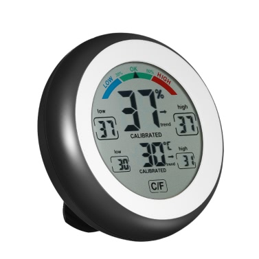 °C / Fデジタル温度計湿度計温湿度計最大最小値トレンド表示°