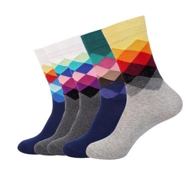 5 pares de meias de algodão de homens de cor misturada