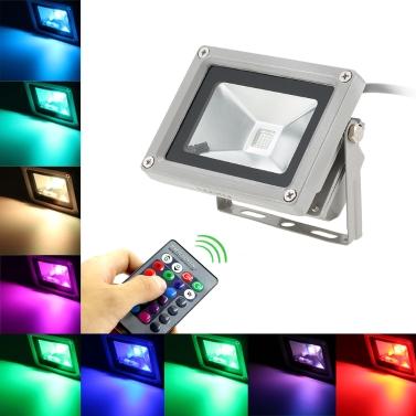 Lixada Luz de inundación impermeable de 10W RGB LED Lámpara de paisaje