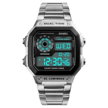 SKMEI Sport Stainless Steel Men Watch
