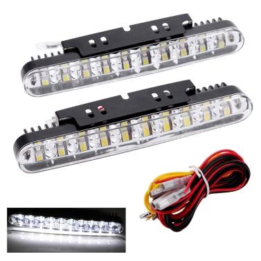2pcs 30LED автомобильная Дневная Ходовая Лампа DRL дневного света с указателями сигнальных ламп поворота