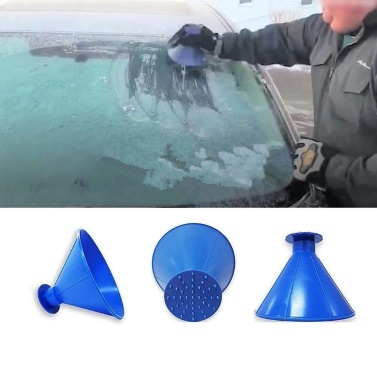 Snow Removal Car Ice Scraper Magic Cone-Shaped 3-in-1