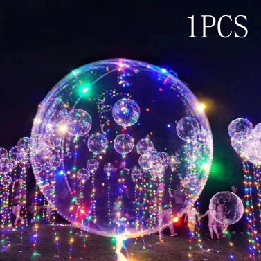 Lámpara de destello colorida ligera llevada transparente brillante del globo BoBo de 18inch LED