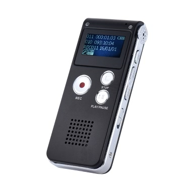 SK-012 da 8 GB Intelligent Digital Audio Voice Phone dittafono del registratore di musica MP3 Player Voice Activate VAR AB Ripetizione