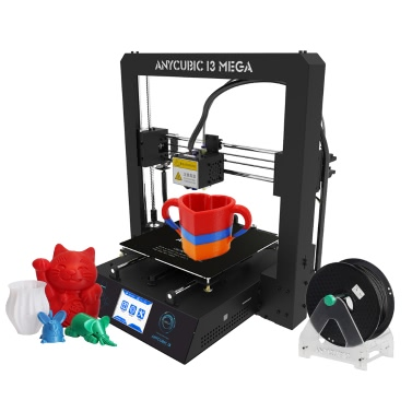 Quadro do metal do jogo da impressora da elevada precisão 3D Anycubic i3 MEGA com o filamento 1Kg