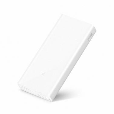 Xiaomi Mi Power Bank 2C Portable 20000 mAh QC3.0 Backup Externe Station D'alimentation Grande Capacité Charge Rapide Coffre-fort pour iPhone X 8 Plus Samsung HTC Smartphones Élégant Portable Ultrathin Léger Anti-poussière Durable