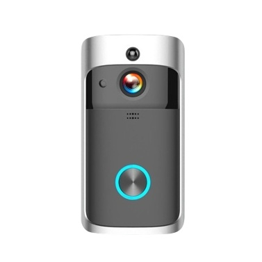 HD 1080P WiFi Smart Wireless DoorBell di sicurezza senza batterie Nero
