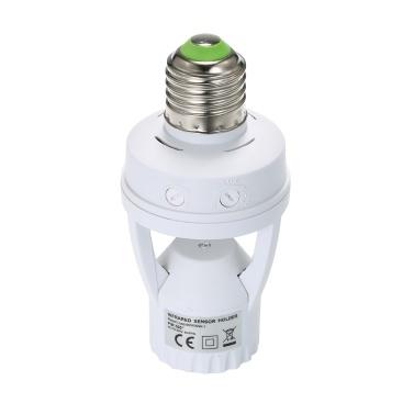 Support de lampe à détecteur de mouvement à induction PIR 360 degrés