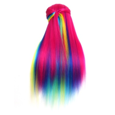Modelli di allenamento per capelli a gradiente multicolore sintetico ad alta temperatura in fibra sintetica