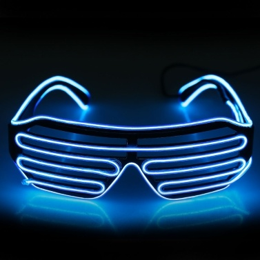 Plastic LED Glasses Flashing Eyeglass