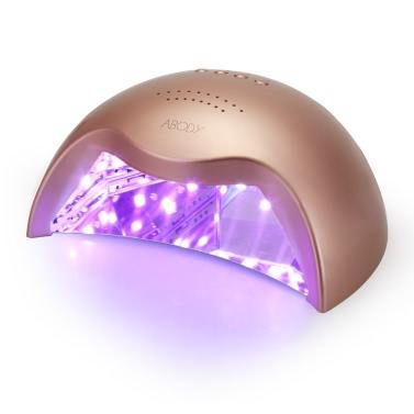 Abody 26/42W LED UV Lamp Nail Dryer Professional Fingernail & Toenail Gel Curing Machine Nail Light 100-240V White EU Plug