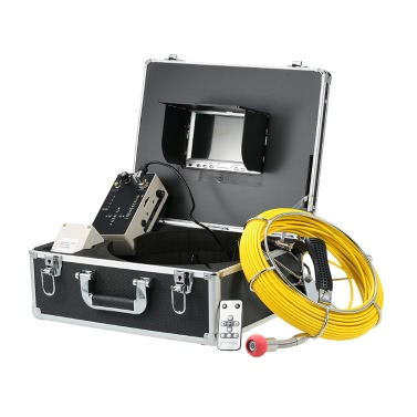 "30M Drain Pipe Sewer Inspection Video Camera 7"" LCD Display"