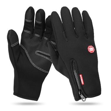Gants et mitaines en cuir d'hiver entraînant les gants à écran tactile