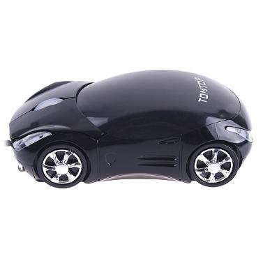 3D USB Ratón Óptico Mouse en Forma de Coche para PC Laptop Ordenador Portátil (Tomtop-Negro)