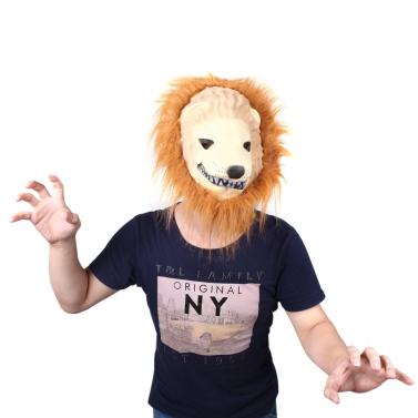 Halloween grande rei leão máscara de Terror animais vestir simulação traje engraçado adereços Masquerade Cosplay