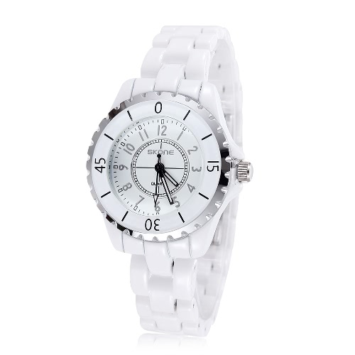 SKONE Women Dress Watches for Woman Watch with White Ceramic Watchband Casual Quartz WristwatchApparel &amp; Jewelry<br>SKONE Women Dress Watches for Woman Watch with White Ceramic Watchband Casual Quartz Wristwatch<br>