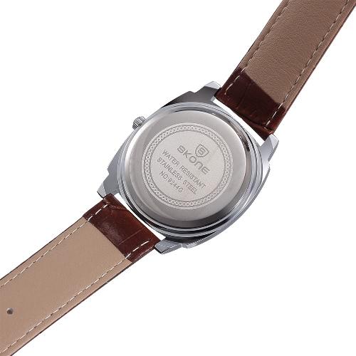 SKONE Brand Fashion Unique Men Women Quartz Wristwatch PU Leather Water-resistant Casual Watch with 3 Sub-dialsApparel &amp; Jewelry<br>SKONE Brand Fashion Unique Men Women Quartz Wristwatch PU Leather Water-resistant Casual Watch with 3 Sub-dials<br>