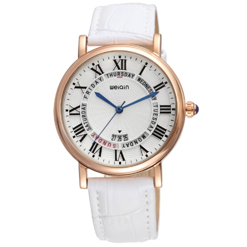 WEIQIN Auto Date 3ATM Casual Fashion Womens Watches Luxury Brand PU Leather Quartz Watch Dress GiftApparel &amp; Jewelry<br>WEIQIN Auto Date 3ATM Casual Fashion Womens Watches Luxury Brand PU Leather Quartz Watch Dress Gift<br>