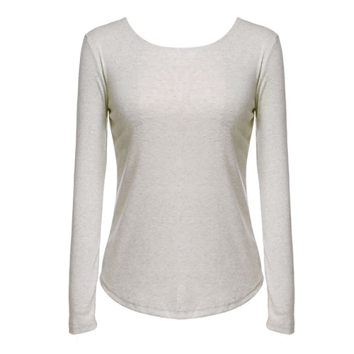 New Sexy Womens Long Sleeve O-neck Backless Tops Shirt BlouseApparel &amp; Jewelry<br>New Sexy Womens Long Sleeve O-neck Backless Tops Shirt Blouse<br>