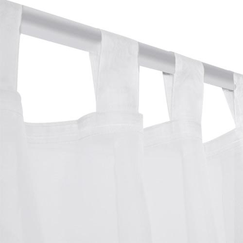 White Sheer Curtain 140 x 245 cm 2 pcsHome &amp; Garden<br>White Sheer Curtain 140 x 245 cm 2 pcs<br>