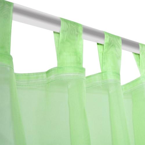 Apple Green Sheer Curtain 140 x 225 cm 2 pcsHome &amp; Garden<br>Apple Green Sheer Curtain 140 x 225 cm 2 pcs<br>