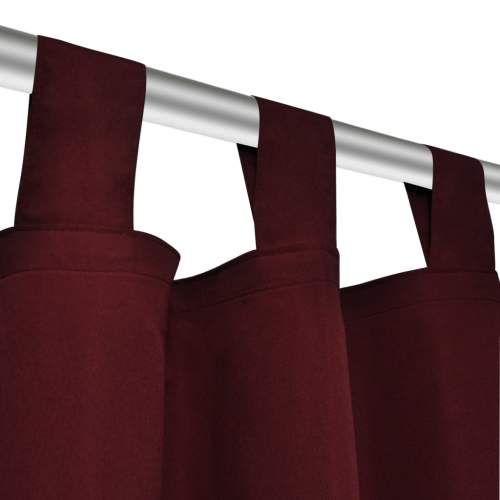 2 pcs Bordeaux Micro-Satin Curtains with Loops 140 x 175 cmHome &amp; Garden<br>2 pcs Bordeaux Micro-Satin Curtains with Loops 140 x 175 cm<br>