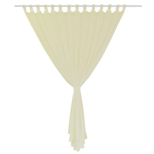 2 pcs Sheer Curtain 290 x 225 cm CreamHome &amp; Garden<br>2 pcs Sheer Curtain 290 x 225 cm Cream<br>