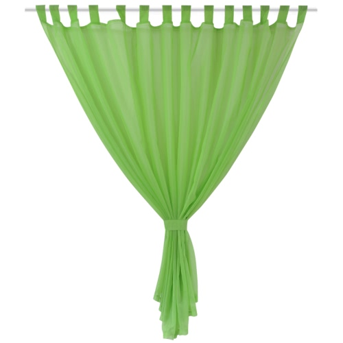 2 pcs Sheer Curtain 290 x 175 cm GreenHome &amp; Garden<br>2 pcs Sheer Curtain 290 x 175 cm Green<br>