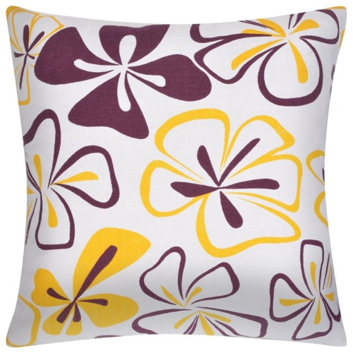 Pillow Covers 4 pcs Canvas Flower Printed 50x50 cmHome &amp; Garden<br>Pillow Covers 4 pcs Canvas Flower Printed 50x50 cm<br>