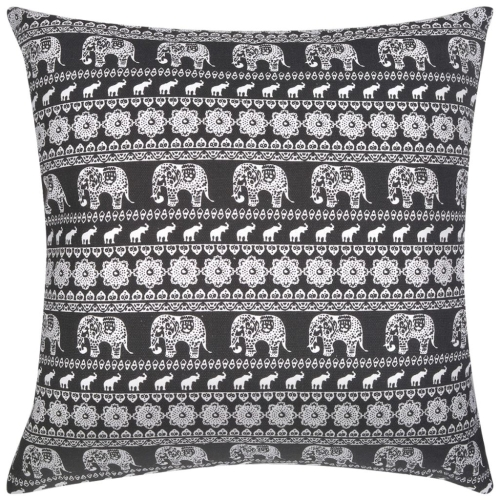 Pillow Covers 2 pcs Canvas Elephant Printed Black 80x80 cmHome &amp; Garden<br>Pillow Covers 2 pcs Canvas Elephant Printed Black 80x80 cm<br>