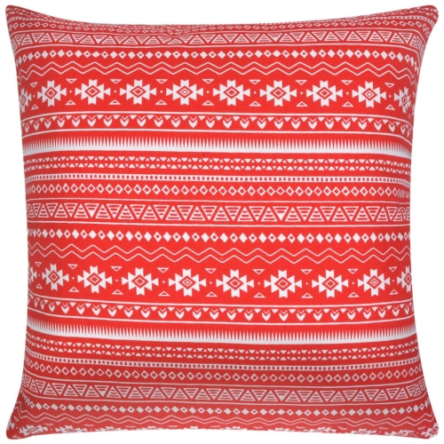 Pillow Covers 4 pcs Canvas Aztec Printed Red 40x40 cmHome &amp; Garden<br>Pillow Covers 4 pcs Canvas Aztec Printed Red 40x40 cm<br>