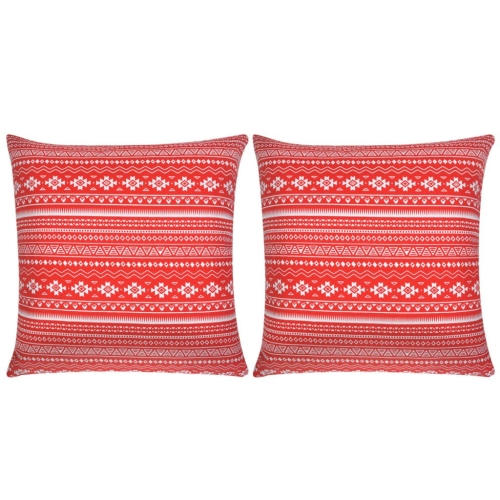 Pillow Covers 2 pcs Canvas Aztec Printed Red 80x80 cmHome &amp; Garden<br>Pillow Covers 2 pcs Canvas Aztec Printed Red 80x80 cm<br>