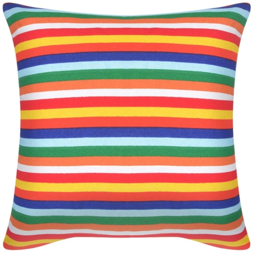 Pillow Covers 2 pcs Canvas Print with Narrow Stripes 80x80 cmHome &amp; Garden<br>Pillow Covers 2 pcs Canvas Print with Narrow Stripes 80x80 cm<br>