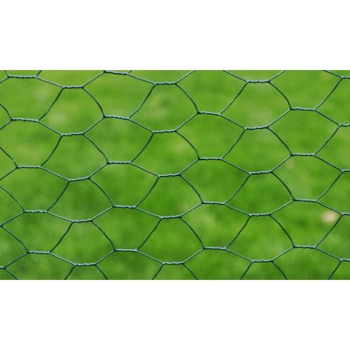 Rete metallica per recinzione a maglia esagonale rivest. PVC 0,8 mmHome &amp; Garden<br>Rete metallica per recinzione a maglia esagonale rivest. PVC 0,8 mm<br>