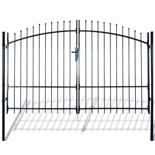 Double Door Fence Gate with Spear Top 300 x 225 cmHome &amp; Garden<br>Double Door Fence Gate with Spear Top 300 x 225 cm<br>